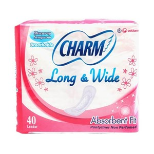 Charm Long & Wide Breathable P/NP 40P x 36pack/ctn