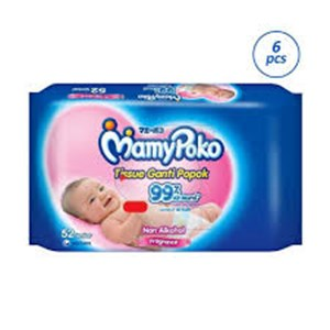 MamyPoko Wipes Reguler 2X52 P/NP x 12pack/ctn