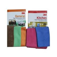 3M HIGH PERFORMANCE CLOTH KITCHEN RED 40X40 FOR TRADING 40X40cm PERBOX ISI 5PCS