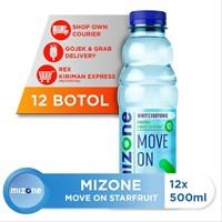 Mizone White Isotonic Cranberry White Tea Extract Mood Up 500 ml x 12 botol/ctn