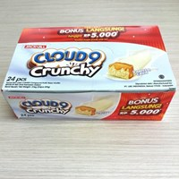 CLOUD 9 CHRUNCHY VANILA 9 GR DISPLAY BOX GT X 192PCS/CTN