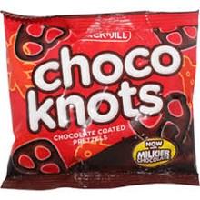 KNOTS CHOCOLATE 15 GR X 72PCS/CTN