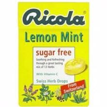 RICOLA SUGAR FREE LEMON 6bx20px45gr