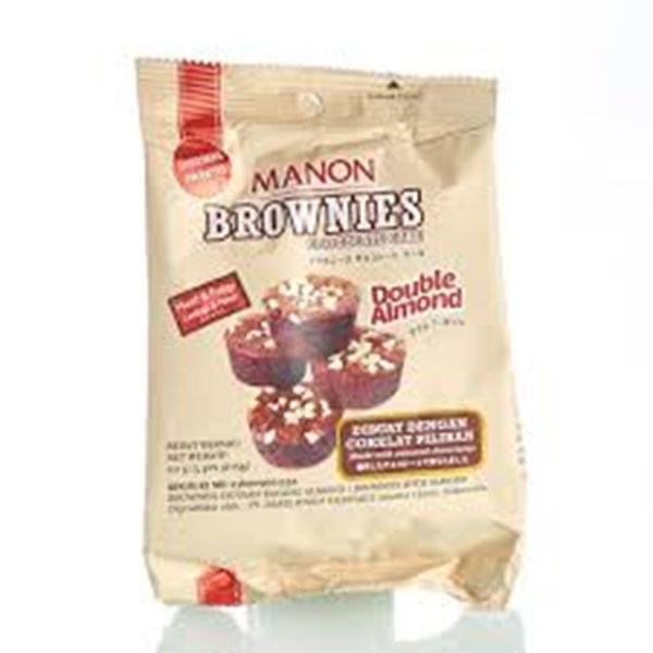 MANON BROWNIES DOUBLE ALMOND 36 X 60 GR PCS PER CARTON