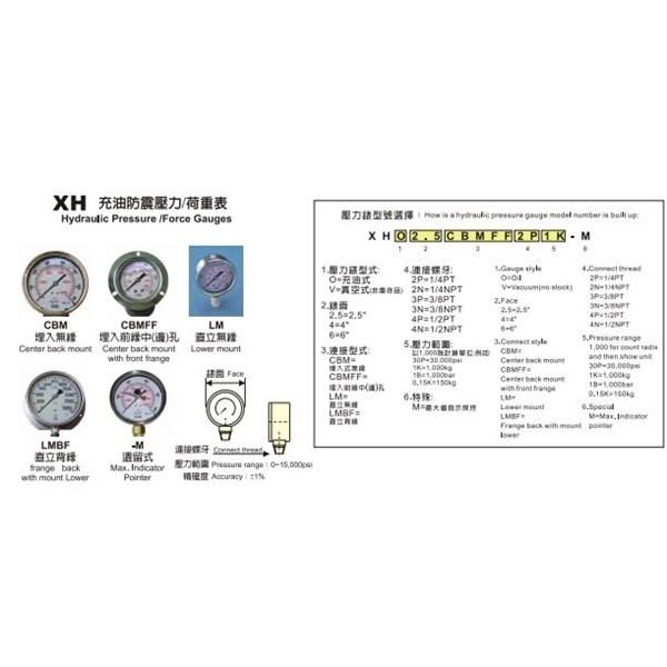 Hydraulic Pressure XH Series