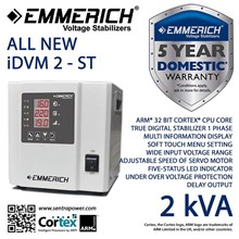 Stabilizer EMMERICH 2 kVA 1 Phase All New iDVM 2-S