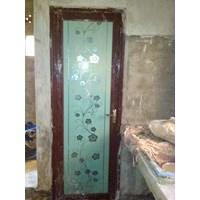 Pintu Aluminium Kamar mandi kaca