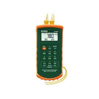 Jual Thermocouple Thermometer Dual Input Datalogging with Alarm - Extech 421509