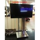 Bracket tv Floor Stainless Steel 2Tiang 4