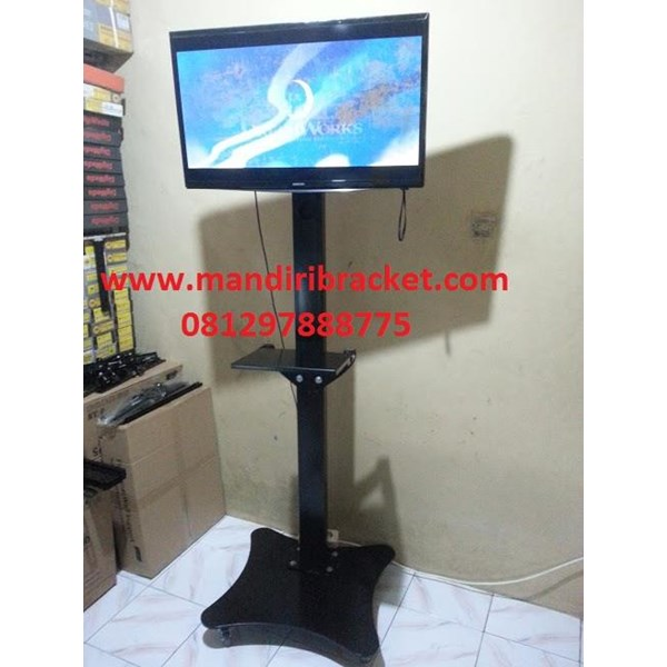 Jual Standing  berdiri Bracket TV led Plat kupu kupu