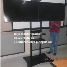 Braket Tv Standing Dua tv kanan kiri
