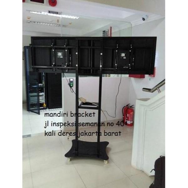 O81297888775 Bracket Tv Standing Dua tv kanan kiri