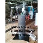 Bracket tv Standing custom tiang lebar (model plat kupu kupu )  2
