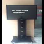 Bracket tv Standing custom tiang lebar (model plat kupu kupu )  4