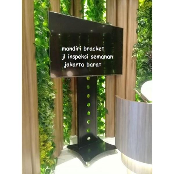 Bracket tv Standing custom tiang lebar (model plat kupu kupu )