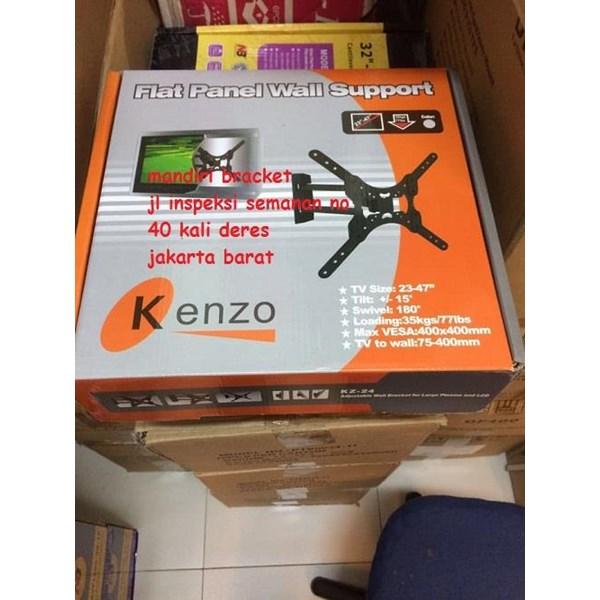 BRAKET TV LED LCD PLASMA MONITOR TV KENZO KZ 24 BISA MEMUTAR 180 DERAJAT