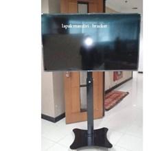 tiang bracket tv stand turun naik plat kupu kupu m