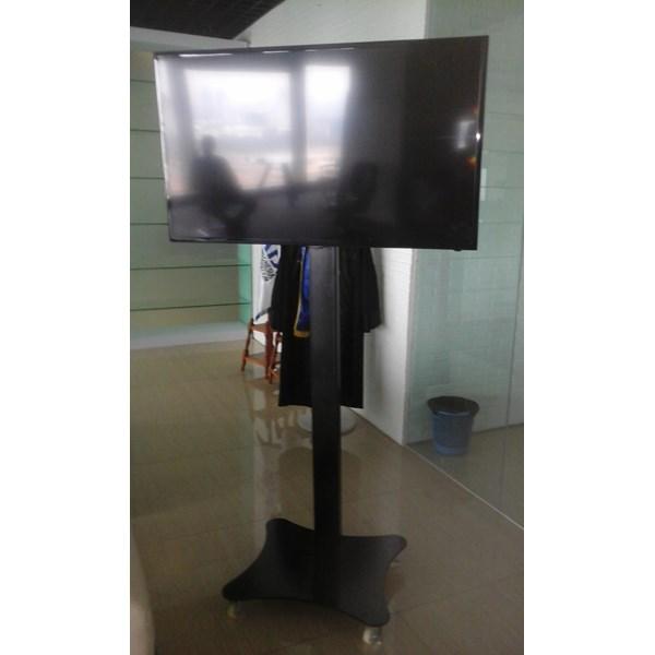tiang bracket tv stand turun naik plat kupu kupu murah