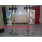 Bracket TV Standing LED stainless steel 1 Tiang Mirorr 3
