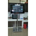 Bracket TV Standing LED stainless steel 1 Tiang Mirorr 5