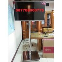 Braket TV Standing LED stainless steel 1 Tiang Mirorr