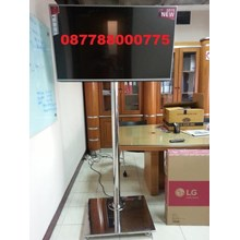 Standing LED TV Bracket stainlees steel 1 Column M