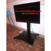 Bracket TV Floor Depan meja tinggi 70cm & 90cm
