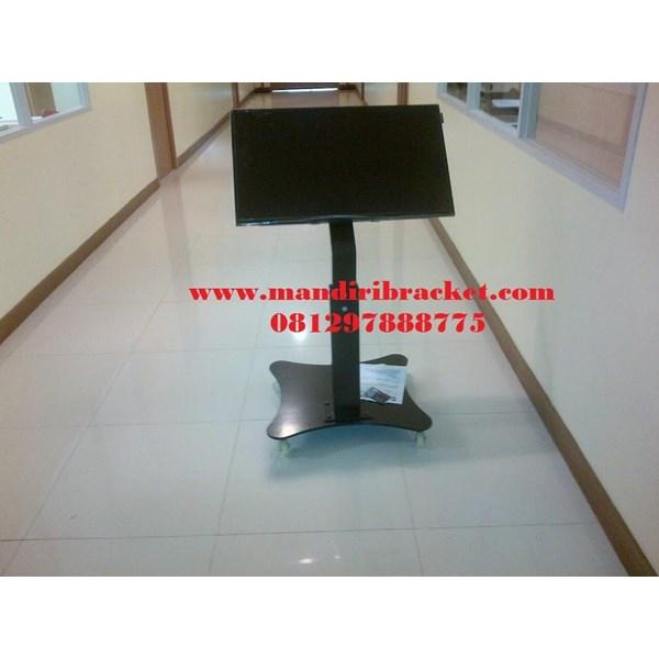 Jual Bracket TV Standing Tiang Pendek depan meja