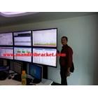 Bracket tv standing berdiri led 2tv tv atas bawah murah  5