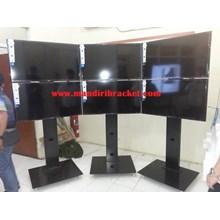 Braket tv standing tiang lebar tv atas bawah murah