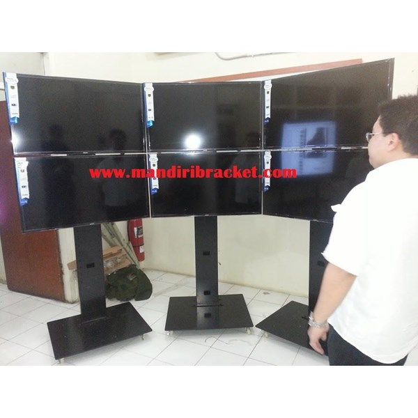 Bracket tv standing berdiri led 2tv tv atas bawah murah