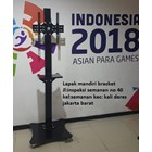Standing berdiri Bracket TV led Plat kupu kupu  5
