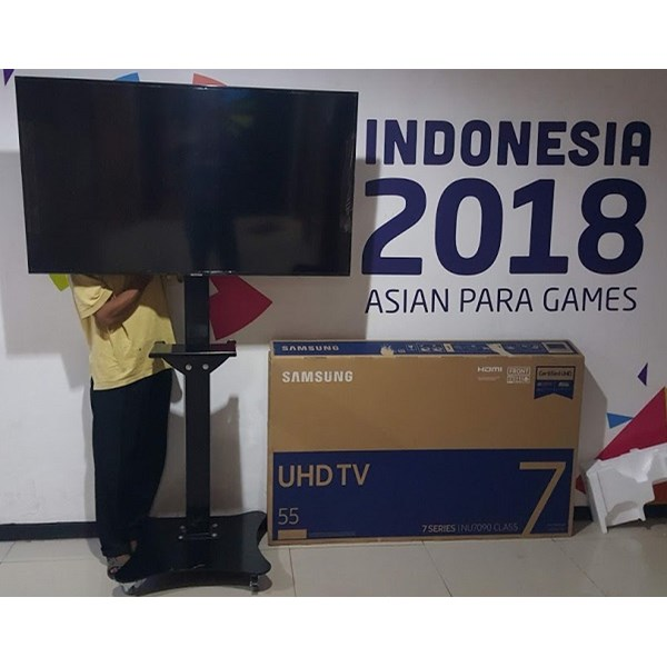 Standing Bracket TV led Plat kupu kupu berdiri