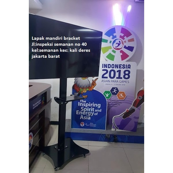 Standing berdiri Bracket TV led Plat kupu kupu
