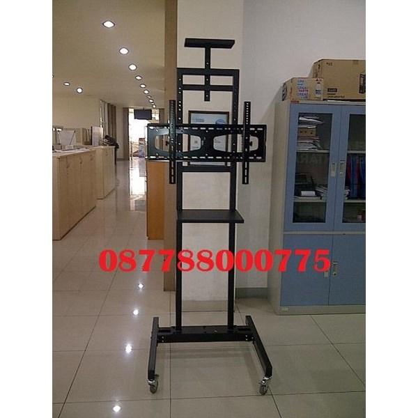 Tiang Bracket tv Standing dua tiang kuat & kekar murah
