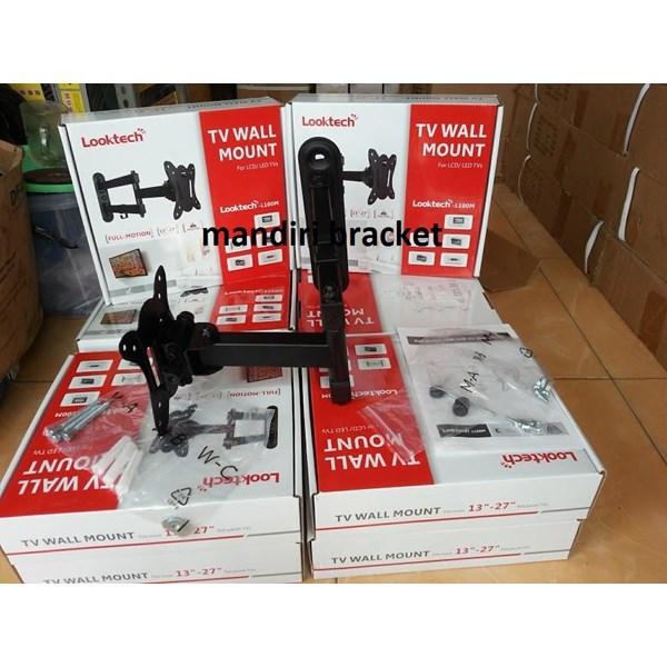 braket tv swivel Loktech tipe L100m monitor kecil murah