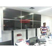 braket tv video wall 3x2 stand dan permanen