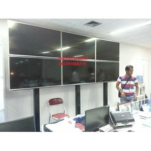 bracket tv video wall 3x2 stand dan permanen