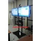braket tv bracket standing plat kupu kupu dual tv murah 10