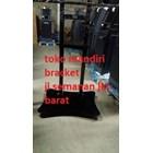 braket tv bracket standing plat kupu kupu dual tv murah 7
