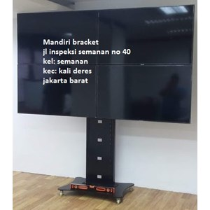 Braket tv stand bracket tv berdiri model kupu kupu 4 tv