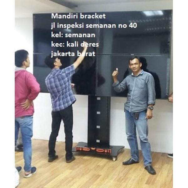 Braket tv stand bracket tv berdiri model kupu kupu 4 tv