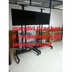 North Bayou AVA1500-60-1P Steel TV Stand Dengan Roda bracket tv  9