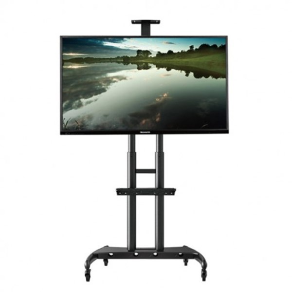 North Bayou AVA1500-60-1P Steel TV Stand Dengan Roda bracket tv