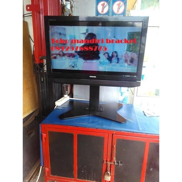 bracket tv stand meja swivel plat kupu kupu murah