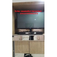 bracket tv stand meja custom