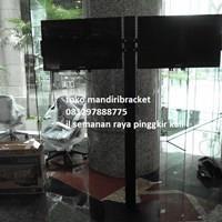Jual Braket TV Standing plat kupu-kupu (2 LCD LED TV) 2