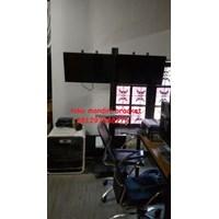 Braket TV Standing plat kupu-kupu (2 LCD LED TV) Murah 5