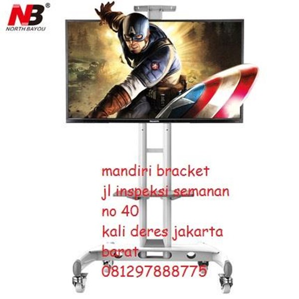 Bracket tv North Bayou Ava1500-60-1P TV Stand Warna putih harga promo