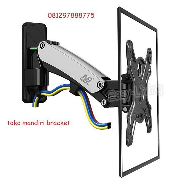 "braket tv North Bayou NBF350 Gas-Spring TV Bracket (Sedang/ 40""-50"") murah"